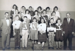 1963 Lincoln 6th Grade Traffic Squad by Linda Eyster.  Carol Sanderson, Jim Price, Bill Grimes, Brenda Thompson, Margare